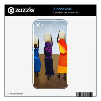 African Women Carrying Heavy Load iPhone 4S Skin