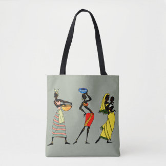 African women illustration tote bag