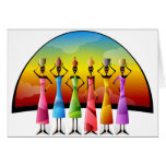 African Women in Colorful Dress Card