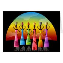 African Women in Colorful Dress Kwanzaa