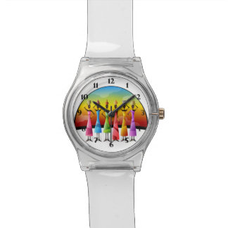 African Women in Colorful Dress Wristwatch