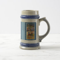 African women on the farm beer stein