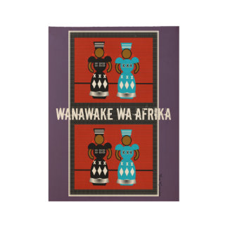 AFRICAN WOMEN POSTER, i Art and Designs Wood Poster