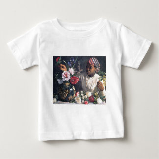 African Women with Peonies Baby T-Shirt
