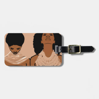 African Women With Tribal Necklaces Bag Tag