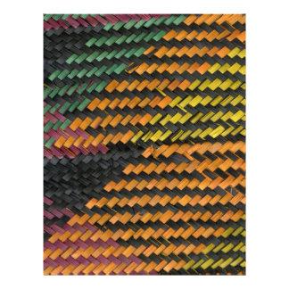 African Woven Straw Mat Flyer