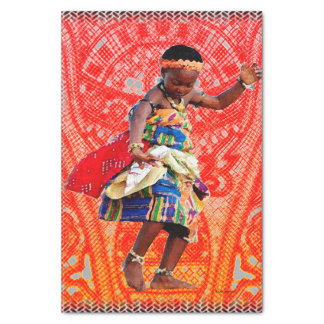 African Youth and Rhythm Tissue Paper