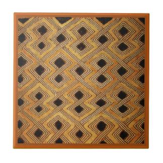 African Zaire Congo Kuba Textile Ceramic Tiles