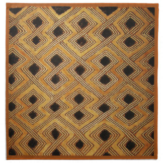 African Zaire Congo Kuba Textile Cloth Napkin