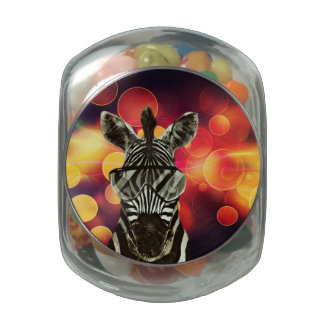 African Zebra Glass Jars