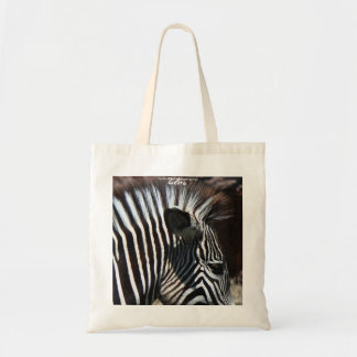 African Zebra Wildlife Portrait Tote-Bag Tote Bag