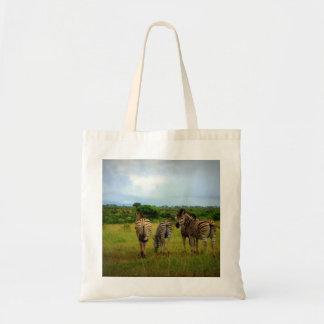 African Zebras in a Natural Setting Tote Bag
