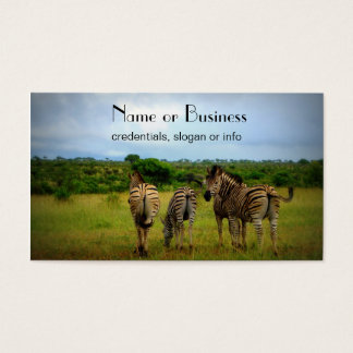 African Zebras in a Natural Setting Business Card