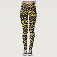 African Zigzag Pattern Leggings