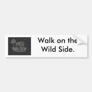 africanelephant, paseo en el lado salvaje pegatina para auto