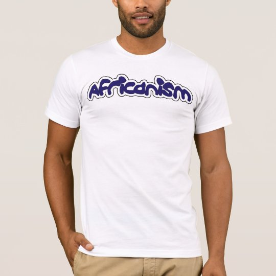Africanism - White and Blue T-Shirt
