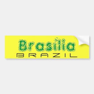 Africankoko Brasília de encargo, el Brasil Etiqueta De Parachoque