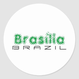 Africankoko Brasília de encargo, el Brasil Pegatina Redonda