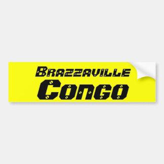 Africankoko Brazzaville de encargo, Congo, África Etiqueta De Parachoque