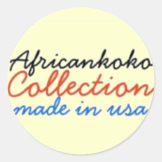 Africankoko Collection Classic Round Sticker
