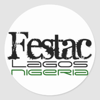 Africankoko Collection Festac Lagos State Nigeria Round Sticker