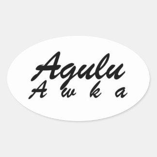 Africankoko Custom Agulu Awka, Anambra State Oval Sticker