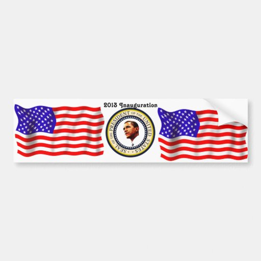 Africankoko Custom Barack Obama 2013 Inauguration Bumper Sticker