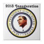 Africankoko Custom Barack Obama 2013 Inauguration Ceramic Tile