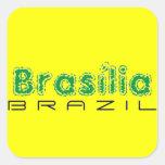 Africankoko custom Brasília, Brazil Square Stickers
