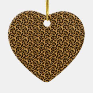 Africankoko Custom cheetah-print-animal-skin Ceramic Ornament