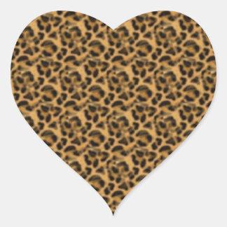 Africankoko Custom cheetah-print-animal-skin Heart Sticker