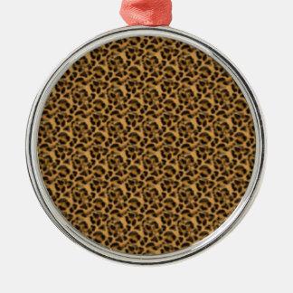 Africankoko Custom cheetah-print-animal-skin Metal Ornament