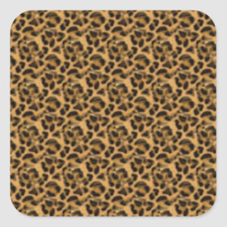 Africankoko Custom cheetah-print-animal-skin Square Sticker