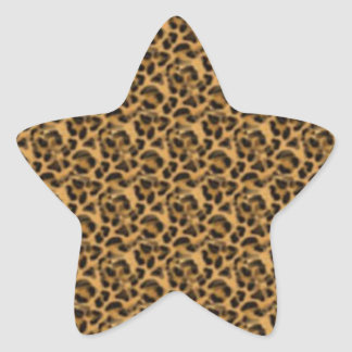 Africankoko Custom cheetah-print-animal-skin Star Sticker