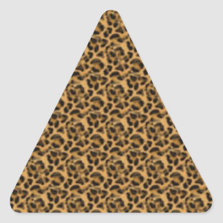 Africankoko Custom cheetah-print-animal-skin Triangle Sticker