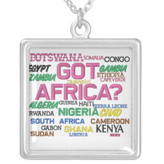 Africankoko Custom Collection(Agfrica) Square Pendant Necklace