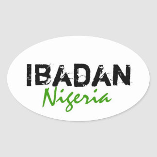Africankoko Custom Collection(ibadan,Nigeria) Oval Sticker