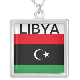 Africankoko Custom Collection(Libya) Square Pendant Necklace