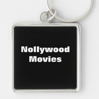 Africankoko Custom Collection(Nollywood Movies) Silver-Colored Square Keychain