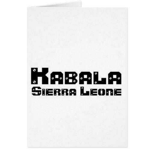 Africankoko Custom Kabala, Sierra Leone Card