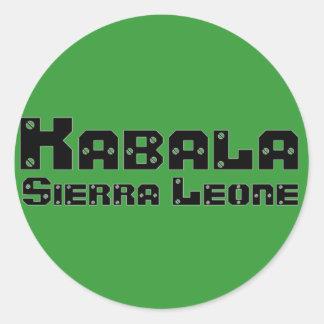 Africankoko Custom Kabala, Sierra Leone Classic Round Sticker