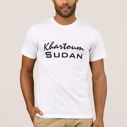 Africankoko Custom Khartoum, Sudan T-Shirt
