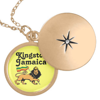 Africankoko Custom Kingston, Jamaica Locket Necklace