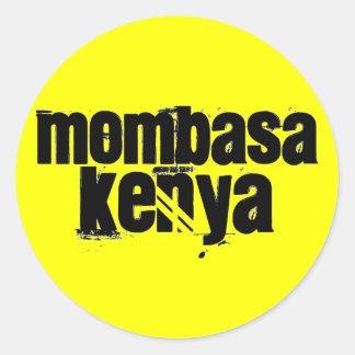 Africankoko Custom Mombasa, Kenya Classic Round Sticker