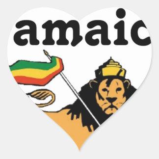 Africankoko Custom Montego Bay, Jamaica Heart Sticker
