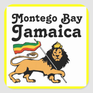 Africankoko Custom Montego Bay, Jamaica Square Sticker