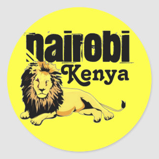 Africankoko Custom Nairobi,  Kenya Round Sticker