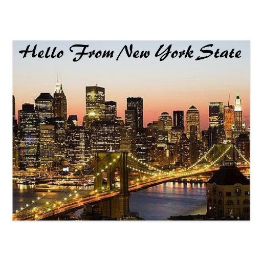 Africankoko custom New York state Postcard