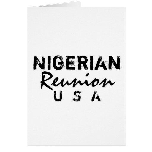 Africankoko Custom Nigerian Reunion Greeting Card