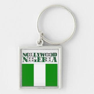 Africankoko Custom Nollywood, Nigeria Silver-Colored Square Keychain